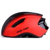 Basecamp ACE Aero Rennrad Fahrrad Helm (Schwarz/Rot) - 1