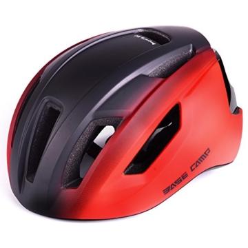 Basecamp ACE Aero Rennrad Fahrrad Helm (Schwarz/Rot) - 3