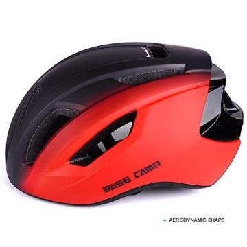 Basecamp ACE Aero Rennrad Fahrrad Helm (Schwarz/Rot) - 4
