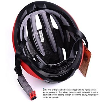Basecamp ACE Aero Rennrad Fahrrad Helm (Schwarz/Rot) - 5