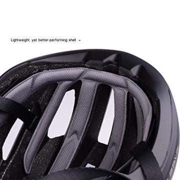 Basecamp ACE Aero Rennrad Fahrrad Helm (Schwarz/Rot) - 6