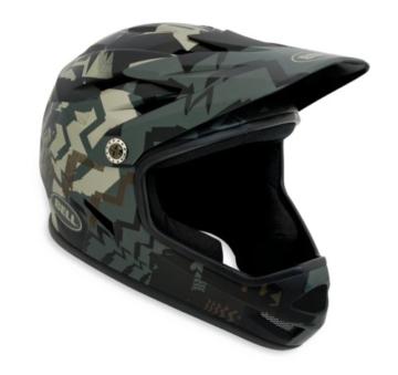 Bell Sanktion BMX/Downhill Helm, Green Shattered - 1