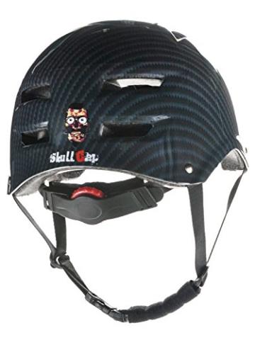 Skullcap® BMX Helm ☢ Skaterhelm ☢ Fahrradhelm ☢, Herren | Damen, schwarz matt & glänzend (Carbon, L (56 - 58 cm)) - 2