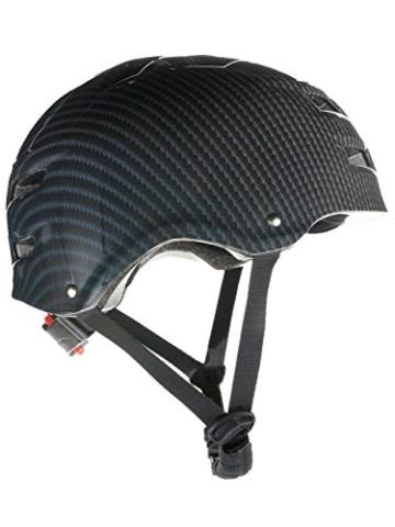 Skullcap® BMX Helm ☢ Skaterhelm ☢ Fahrradhelm ☢, Herren | Damen, schwarz matt & glänzend (Carbon, L (56 - 58 cm)) - 3