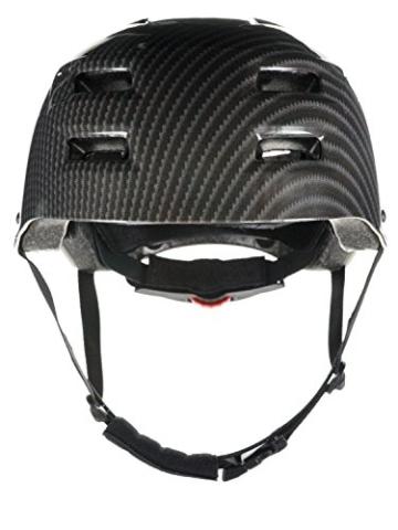 Skullcap® BMX Helm ☢ Skaterhelm ☢ Fahrradhelm ☢, Herren | Damen, schwarz matt & glänzend (Carbon, L (56 - 58 cm)) - 4