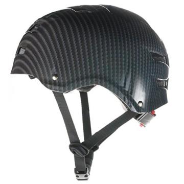 Skullcap® BMX Helm ☢ Skaterhelm ☢ Fahrradhelm ☢, Herren | Damen, schwarz matt & glänzend (Carbon, L (56 - 58 cm)) - 5