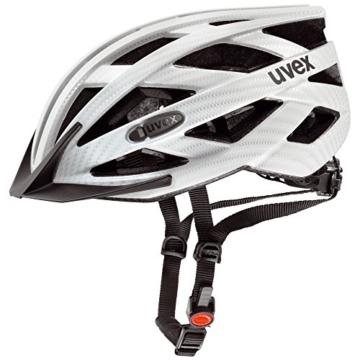 UVEX Erwachsene Fahrradhelm I-VO CC, White Carbon Look Mat, 52-57 cm, 4104230215 - 1