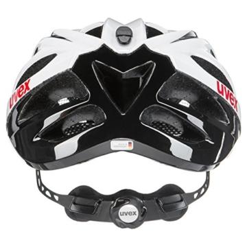 Uvex Fahrradhelm Boss Race, White-Black, 55-60, 4102290817 - 2
