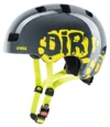 UVEX Kinder Kid 3 Radhelm, Grau (Dirtbike Gray-Lime), 51-55 cm - 1