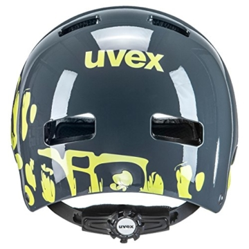 UVEX Kinder Kid 3 Radhelm, Grau (Dirtbike Gray-Lime), 51-55 cm - 2