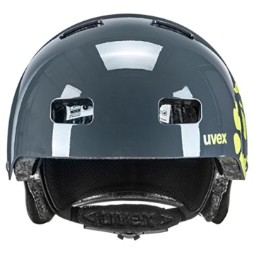 UVEX Kinder Kid 3 Radhelm, Grau (Dirtbike Gray-Lime), 51-55 cm - 3