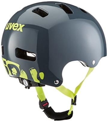 UVEX Kinder Kid 3 Radhelm, Grau (Dirtbike Gray-Lime), 51-55 cm - 4