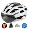 KINGLEAD Fahrradhelm mit Schild Visier, Unisex Geschützter Fahrradhelm für Fahrradfahren Racing Skateboarding Outdoors Sports Safety Superleichter Verstellbarer Fahrradhelm - 1