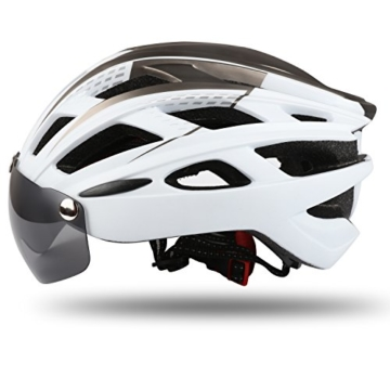 KINGLEAD Fahrradhelm mit Schild Visier, Unisex Geschützter Fahrradhelm für Fahrradfahren Racing Skateboarding Outdoors Sports Safety Superleichter Verstellbarer Fahrradhelm - 8