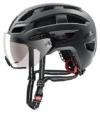 uvex Unisex– Erwachsene, finale visor Fahrradhelm, black mat, 52-57 cm - 1