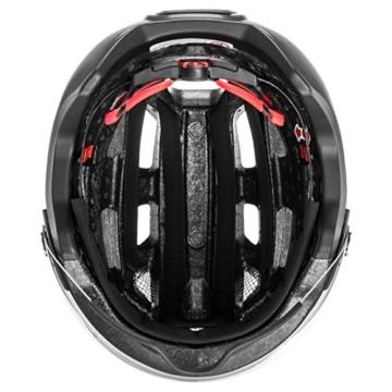 uvex Unisex– Erwachsene, finale visor Fahrradhelm, black mat, 52-57 cm - 7